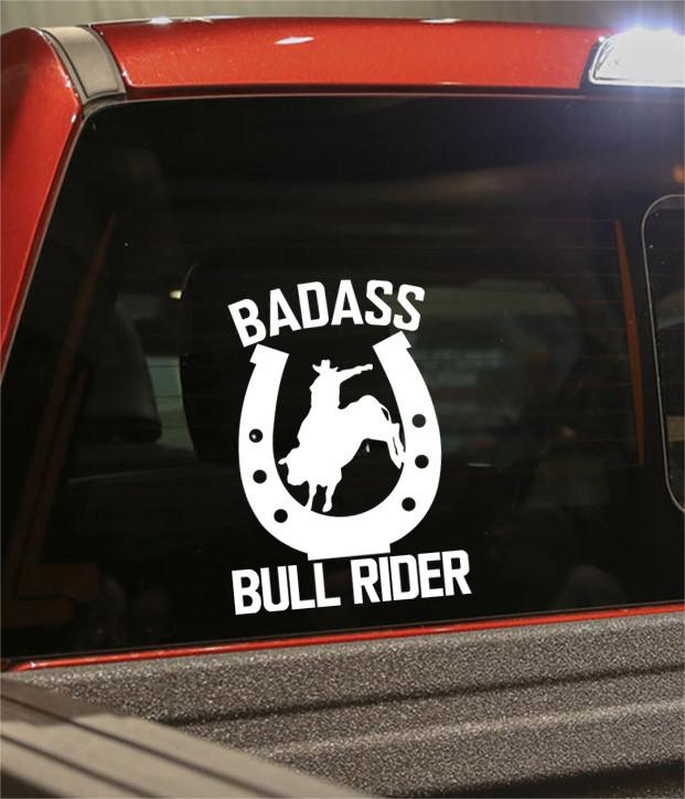 badass bull rider country & western decal - North 49 Decals
