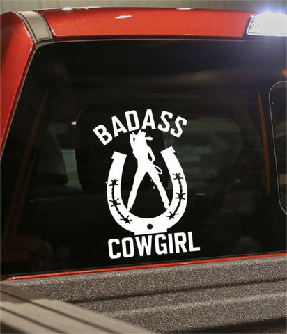 badass cowgirl country & western decal - North 49 Decals