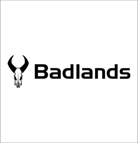 Badlands Packs decal, sticker, car decal