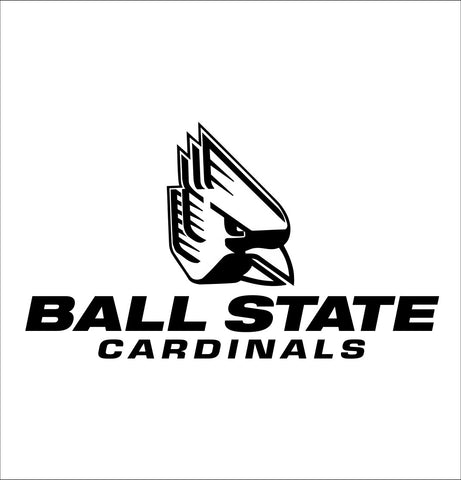 Ball State Cardinals decal, car decal sticker, college football