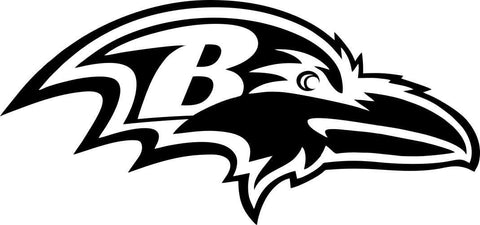 baltimore ravens car window decal