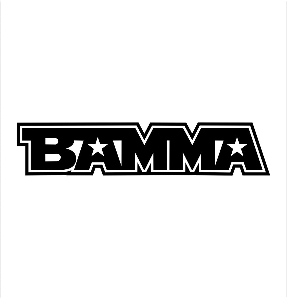 Bamma decal, mma boxing decal, car decal sticker