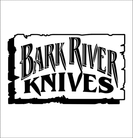 Bark River Knives decal, fishing hunting car decal sticker