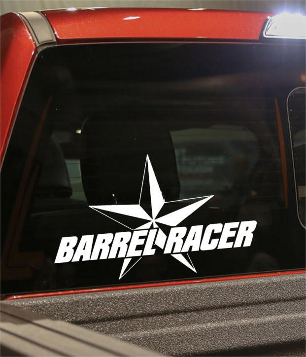 barrel racer 2 country & western decal - North 49 Decals