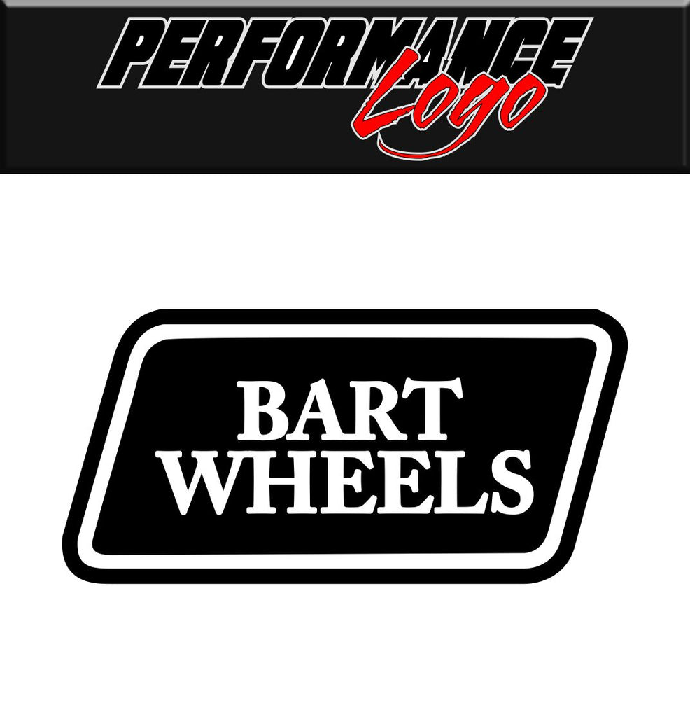 Bart Wheels decal performance decal sticker