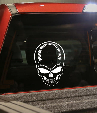 baseball sport skull decal - North 49 Decals