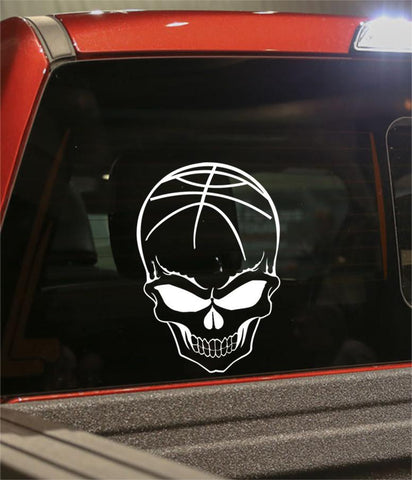 basketball sport skull decal - North 49 Decals