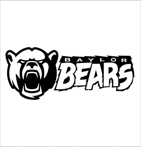 Baylor Bears decal, car decal sticker, college football