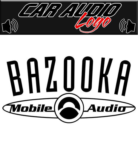 Bazooka decal, sticker, racing decal