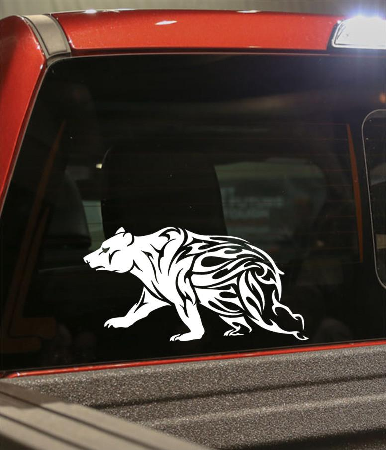 bear 2 flaming animal decal - North 49 Decals