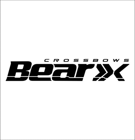 Bear X Crossbows decal, fishing hunting car decal sticker