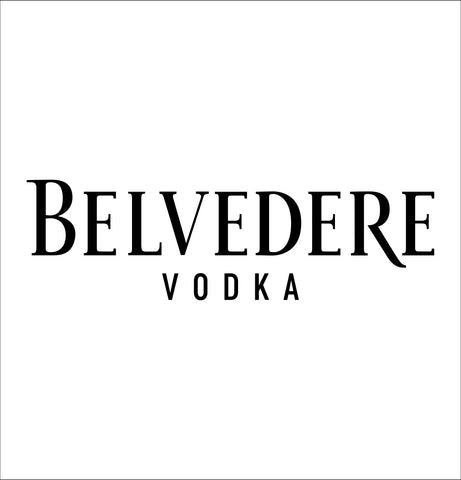 Belvedere Vodka decal, vodka decal, car decal, sticker