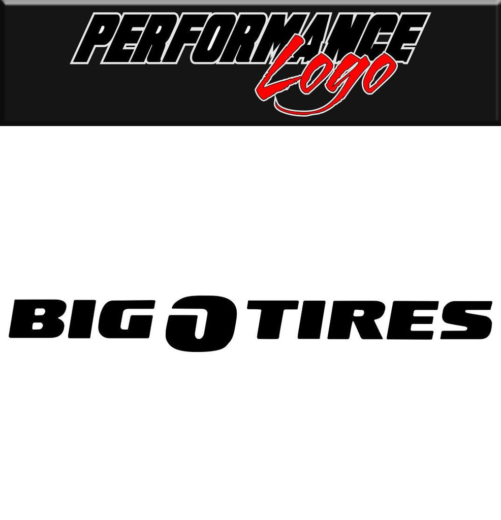 Big O Tires decal performance decal sticker
