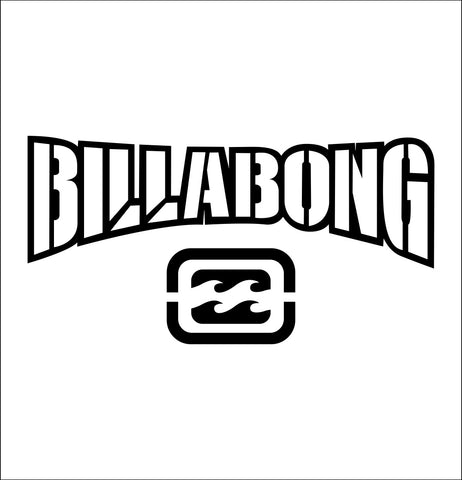 Billabong decal, car decal sticker