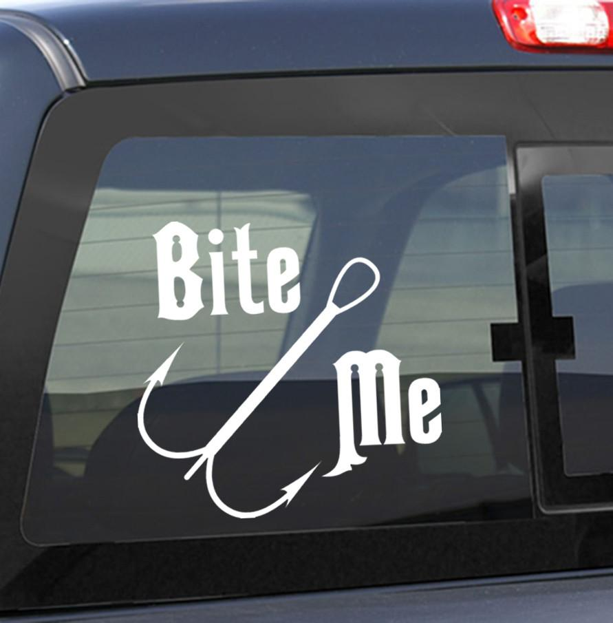 fishing decal, car decal sticker