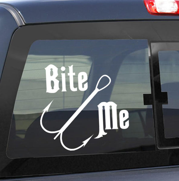 Bite me fishing decal - North 49 Decals