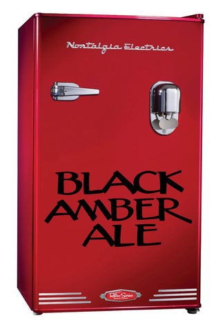 Black Amber Ale decal, beer decal, car decal sticker