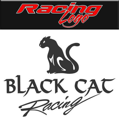 Black Cat Racing decal, racing sticker