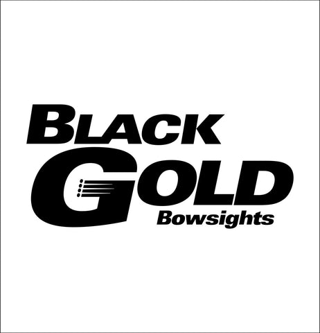 Black Gold Bowsights decal, car decal sticker