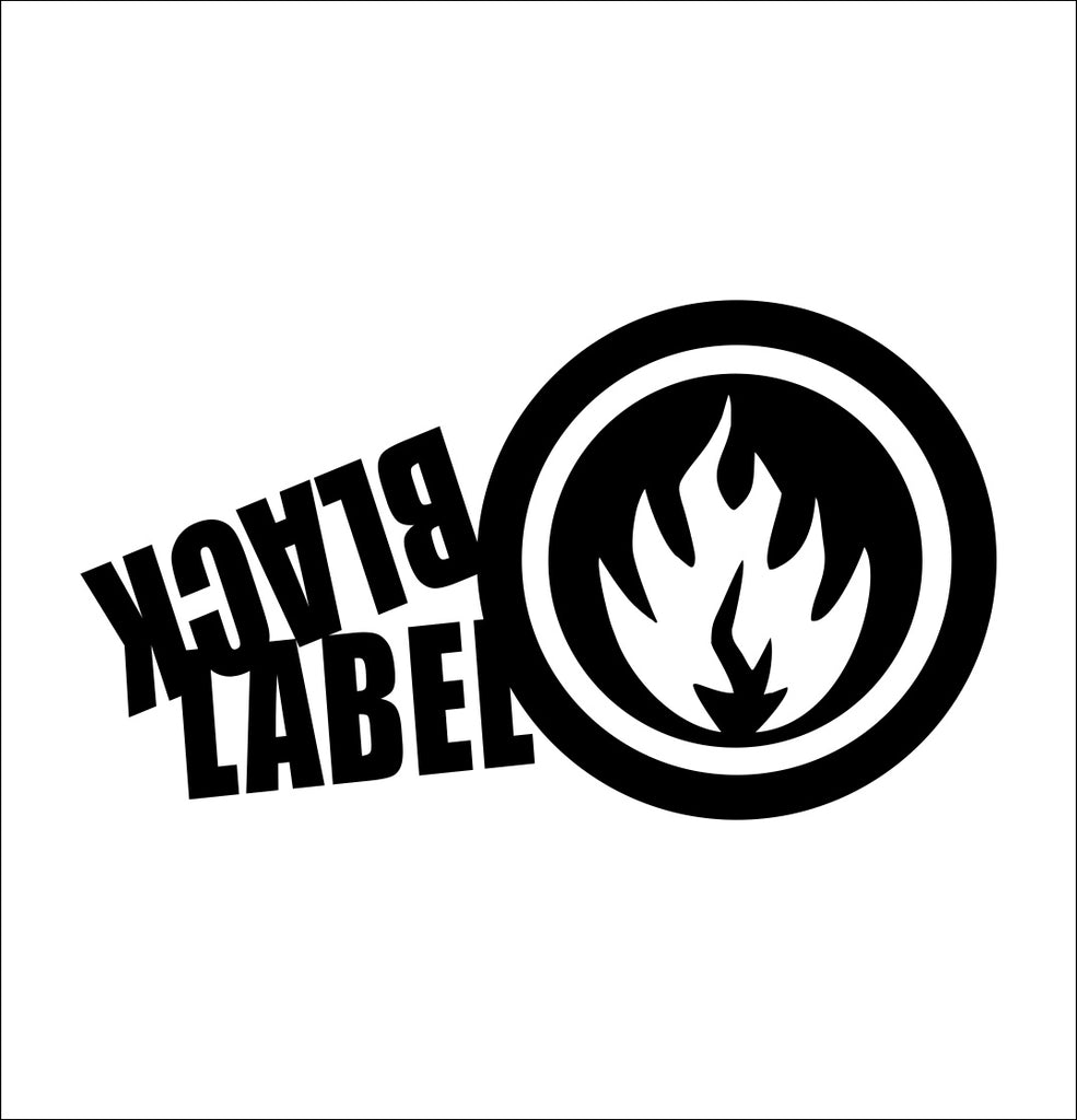 Black Label Skateboards decal, skateboarding decal, car decal sticker