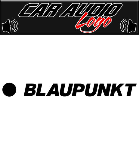 Blaupunkt decal, sticker, audio decal