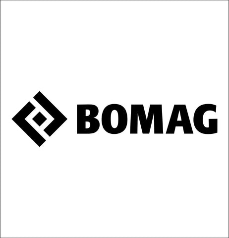 bomag decal, car decal sticker