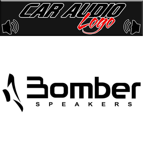 Bomber Speakers decal, sticker, audio decal
