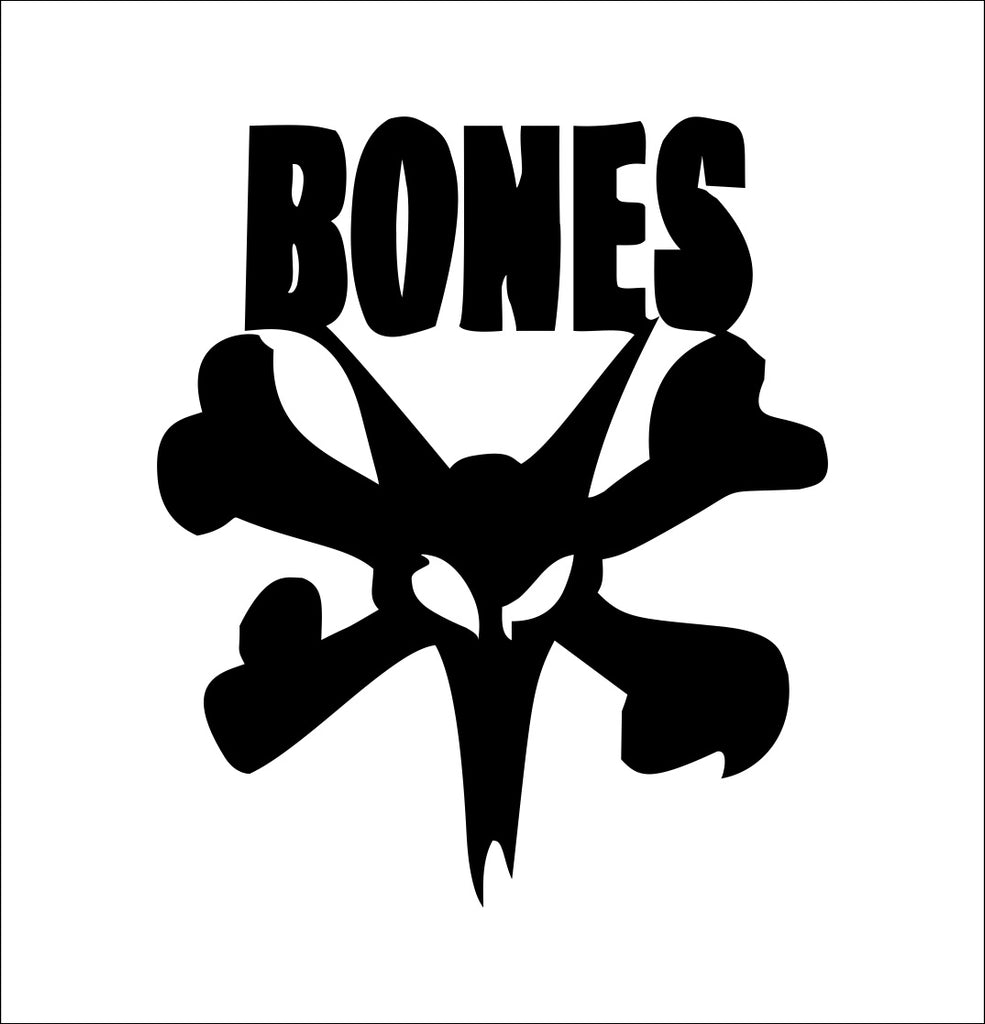 Bones Bearings decal, skateboarding decal, car decal sticker