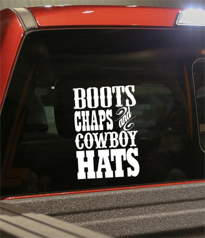 Boots chaps country & western decal - North 49 Decals