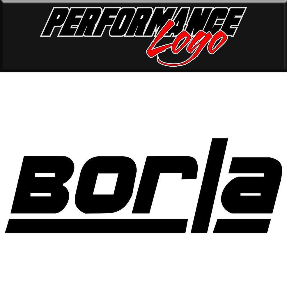 Borla decal performance decal sticker