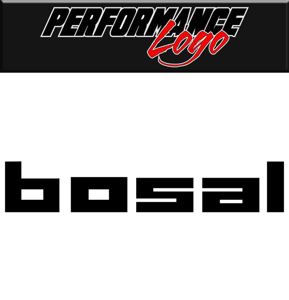 Bosal decal performance decal sticker