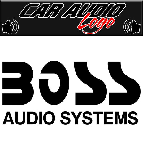 Boss Audio decal, sticker, audio decal