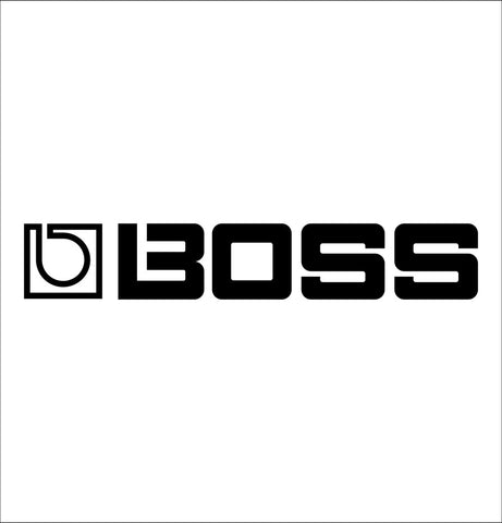 Boss Amps decal, music instrument decal, car decal sticker