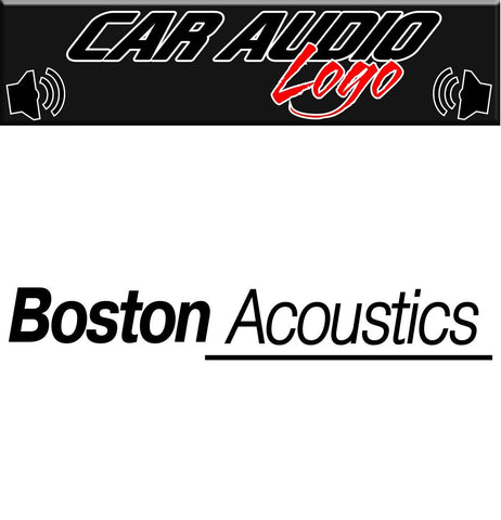 Boston Acoustics decal, sticker, audio decal