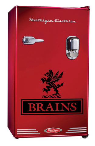 Brains decal, beer decal, car decal sticker