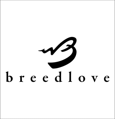 Breedlove decal, music instrument decal, car decal sticker