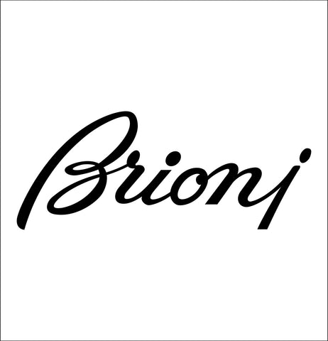 Brioni decal, car decal sticker