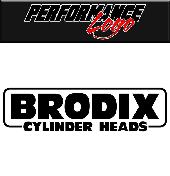 Brodix Cylinder Heads decal performance decal sticker