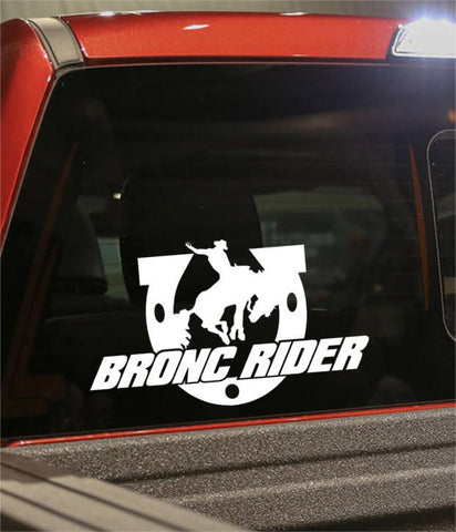 bronc rider country & western decal - North 49 Decals