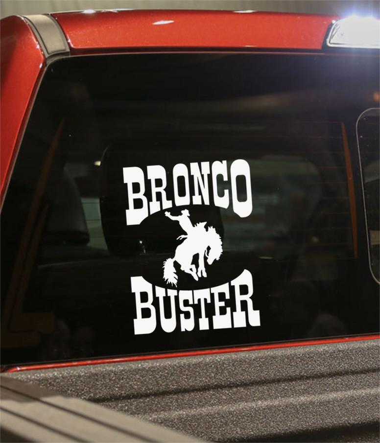 Bronco buster country & western decal - North 49 Decals
