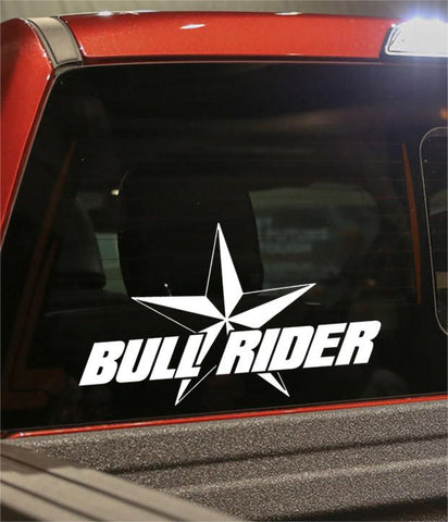 bull rider star country & western decal - North 49 Decals