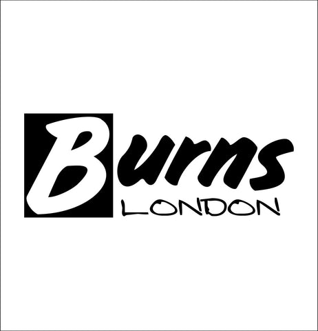 Burns London decal, music instrument decal, car decal sticker