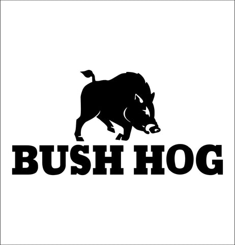 Bush Hog decal, farm decal, car decal sticker