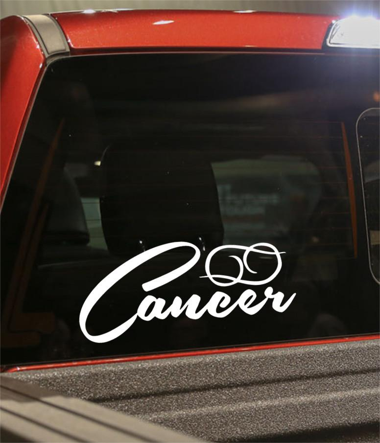cancer 2 zodiac decal - North 49 Decals