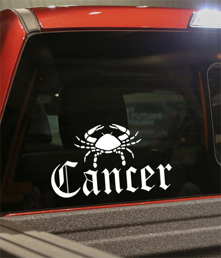 cancer 3 zodiac decal - North 49 Decals