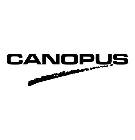 Canopus Drums decal, music instrument decal, car decal sticker