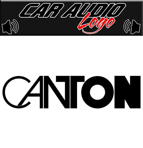 Canton decal, sticker, audio decal