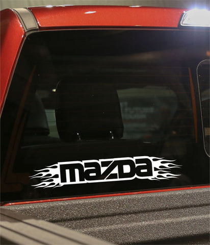 Mazda flaming car brand decal - North 49 Decals