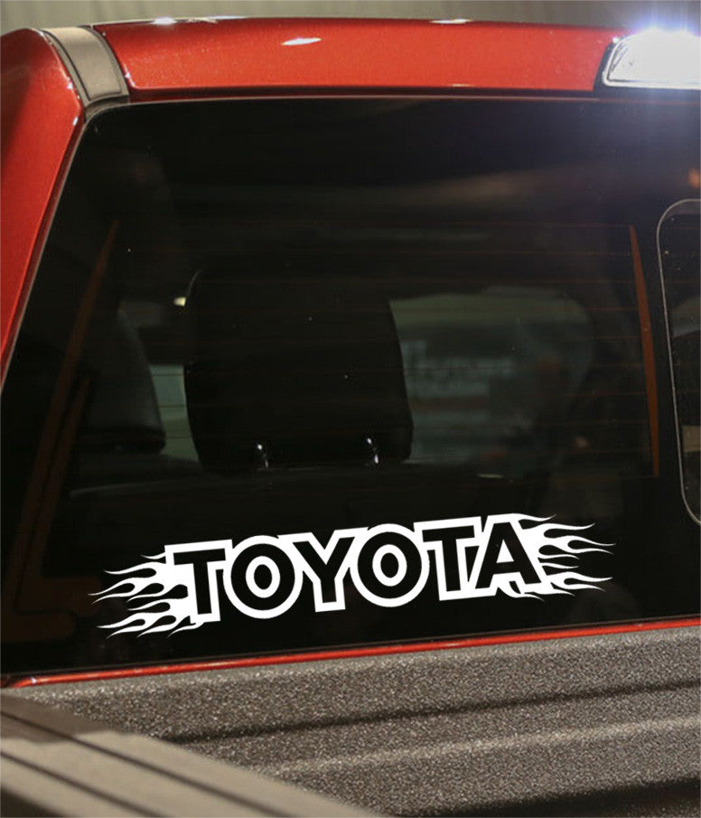Toyota flaming car brand decal - North 49 Decals