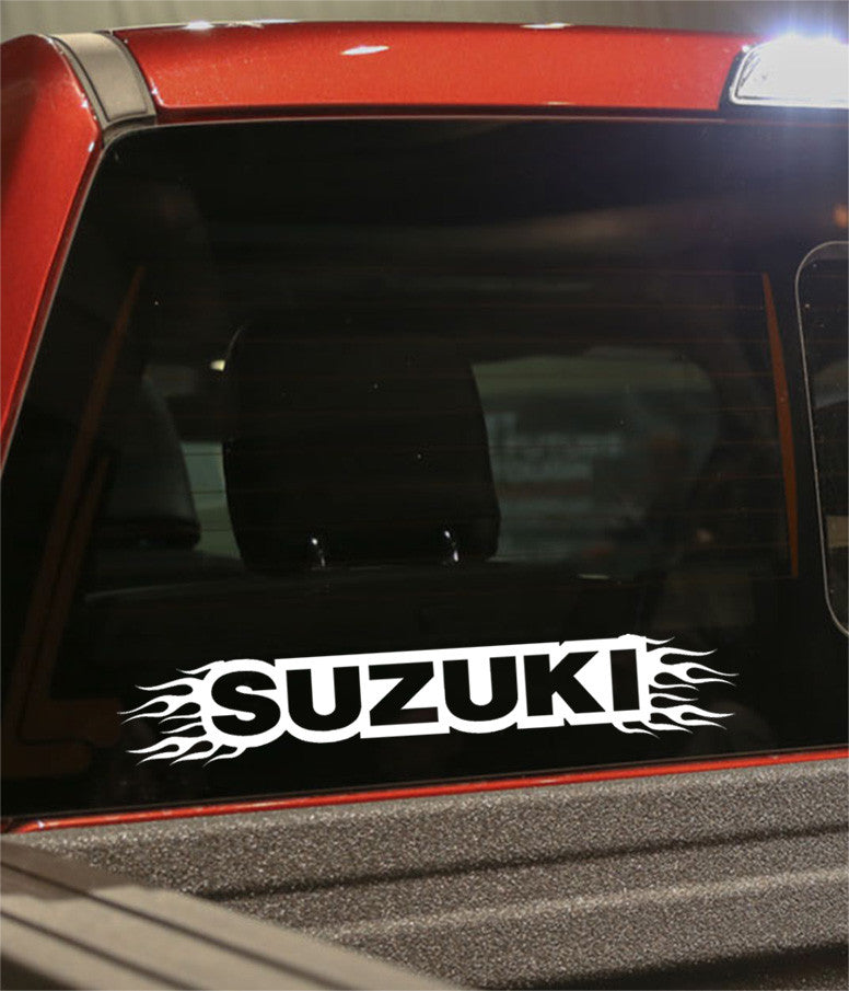 Suzuki flaming car brand decal - North 49 Decals